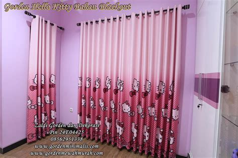 Gorden Hellokitty Pink gorden hello bahan blackout tirai hello gorden