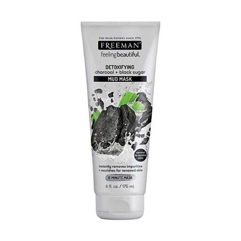 Harga Masker Wajah Freeman jual freeman charcoal black sugar detoxifying mud mask