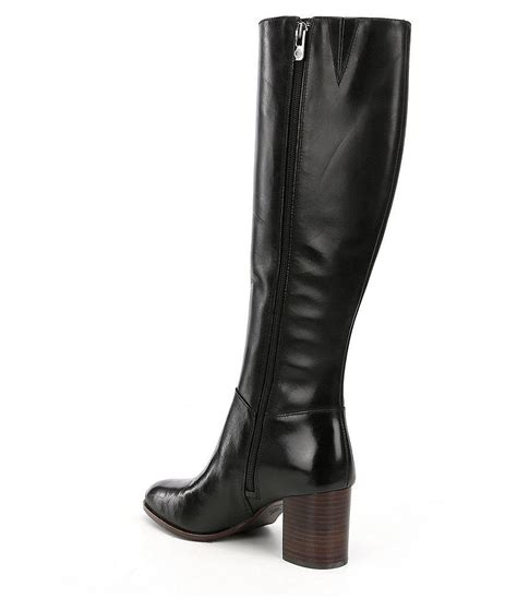 narrow width boots lyst antonio melani dredass narrow calf dress boots in black