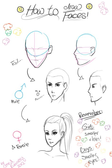 how to draw doodle faces how to draw faces by rubinery on deviantart