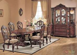 Formal Dining Room Furniture by Elegant Traditional Carved Cherry 7 Piece Formal Dining