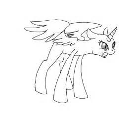 Base Outline by Pony Base Alicorn Raged By Crystalchan2d On Deviantart