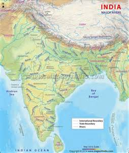 map of rivers in indien orographie karte