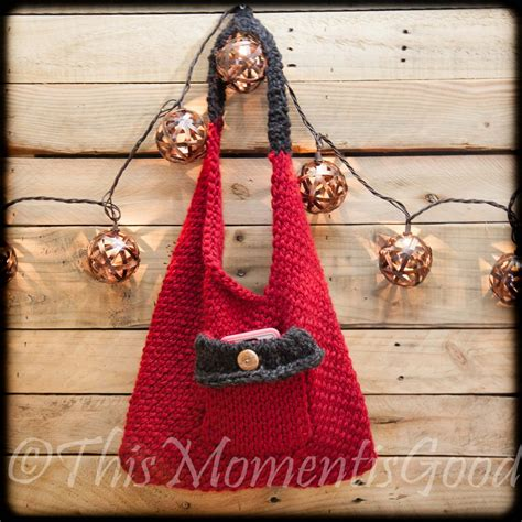 knitting purses for beginners loom knit sling bento bag handbag purse pattern