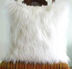 Fluffy Throw Pillows White Fur Pillow Throw 14 X 14 Fluffy White Fur White Suede