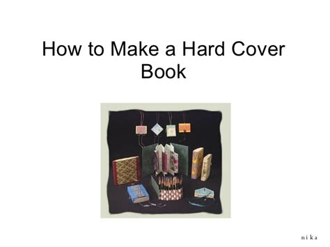 How To Make A Book With One Of Paper - how to make a cover book