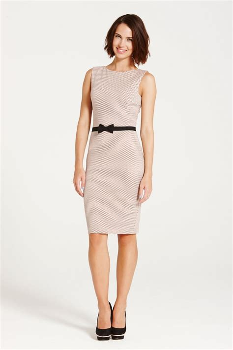 Dress Of The Day Karoo By Eisen Banded Turtleneck by Paper Dolls Blush And Black Lace Band Wiggle Dress Paper