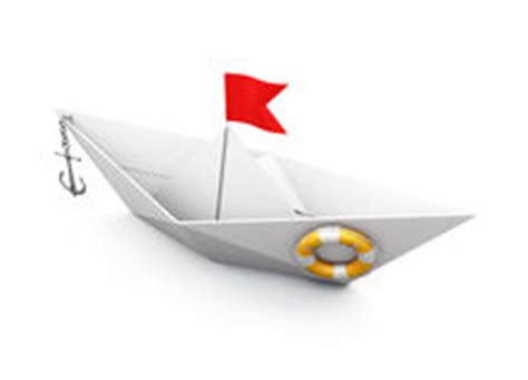 origami boat with anchor origami boat out of paper with an anchor and a lifeline