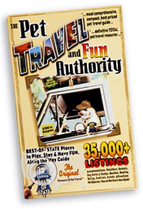 Book Your Travel To Dreamland Pet Pet Pet Product by Quot The Pet Travel And Authority Quot Book Offers Tips For