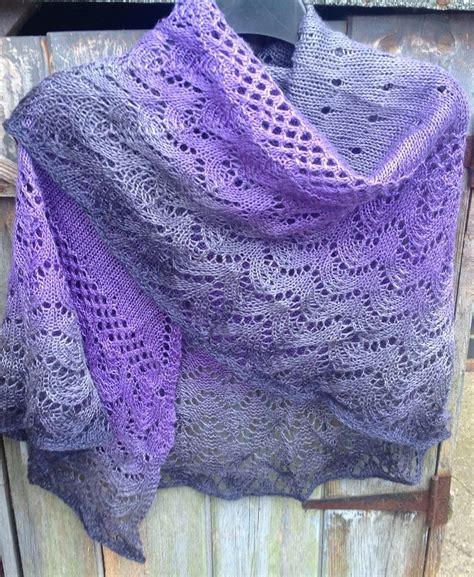 pattern for lace yarn free knitting pattern for one skein kindness shawl 3