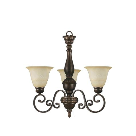 stained glass light fixtures home depot hton bay carina 3 light aged bronze chandelier with tea