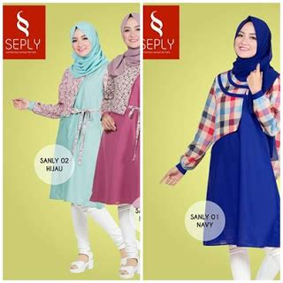 Tunik Maryam Navy koleksi tunik seply fashion sanly 01 02