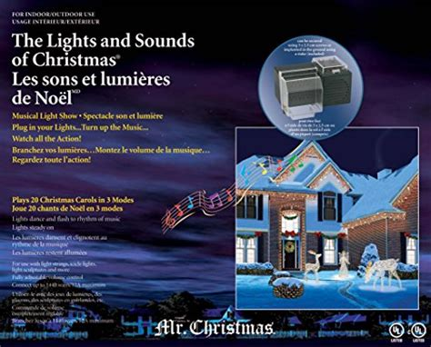 mr christmas lights and sounds of christmas outdoor