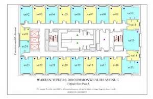 bu housing floor plans warren towers floor plans 187 housing boston