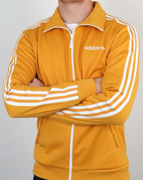 Adidas Tracking Yellow adidas originals beckenbauer track top yellow tracksuit jacket mens retro