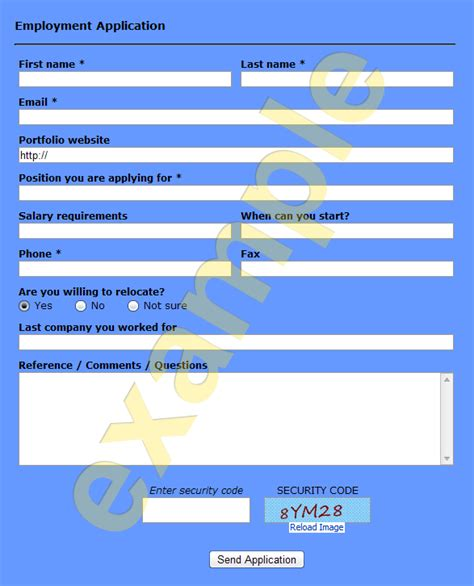 format html online ready to use employment application form