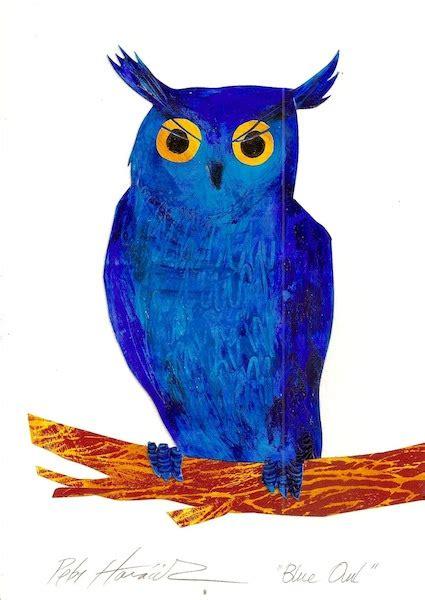 Piyama Owl Blue Piyama Owl blue owl petr horacek