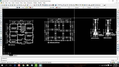 youtube building layout autocad brick foundation layout plan a complete tutorial
