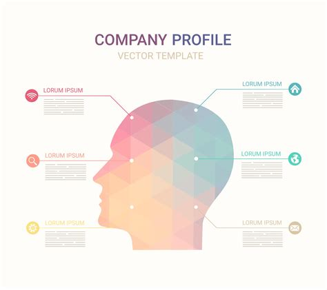 free vector company profile template download free