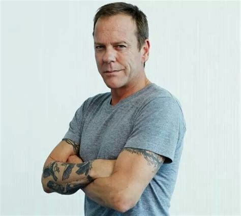 i m not one for tattoos but that kiefer sutherland i