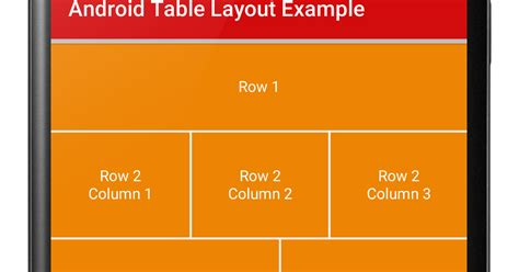 table layout menu android android table layout exle viral android tutorials