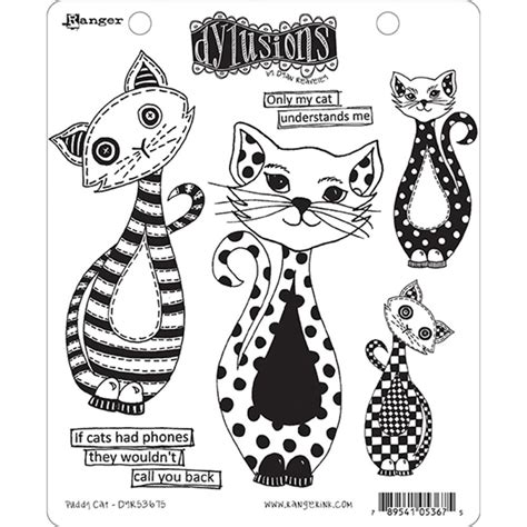 Dijamin Clear St Kitties dylusions cling rubber sts puddy cat