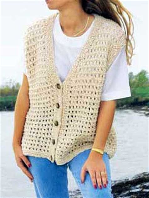pinterest vest pattern summer time vest free pattern from annie s knitted and