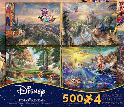 1449453562 thomas kinkade the disney dreams 4 in 1 thomas kinkade disney dreams multi pack jigsaw
