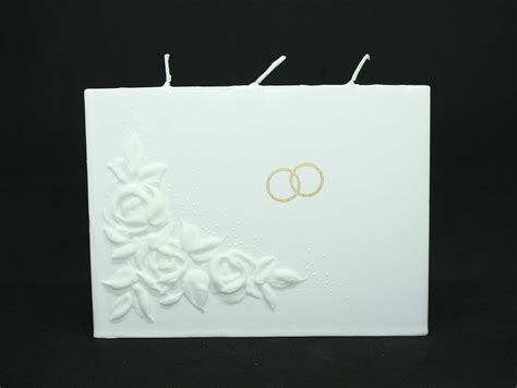 candela matrimonio candela tre stoppini con le roselline e le fedi oro