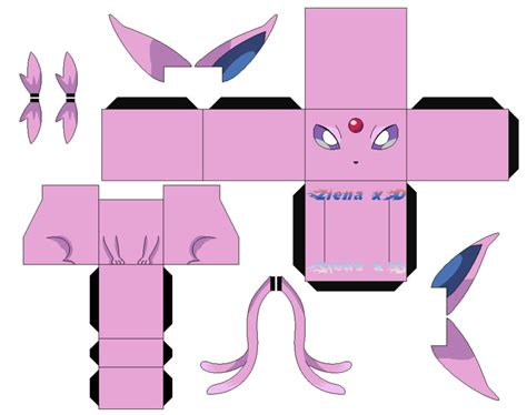 Espeon Papercraft - cubeecraft images images