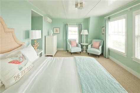 seafoam green and coral bedroom seafoam green bedroom cottage bedroom jonathan adler