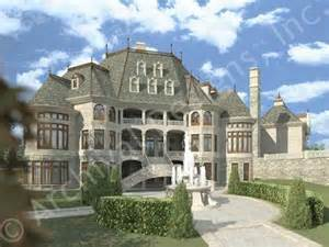 Chateau Style House Plans by Chateau Novella Luxury House Plan Small Castle Plan