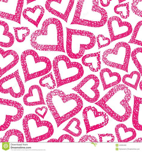 love pattern background vector hearts seamless pattern love theme background stock