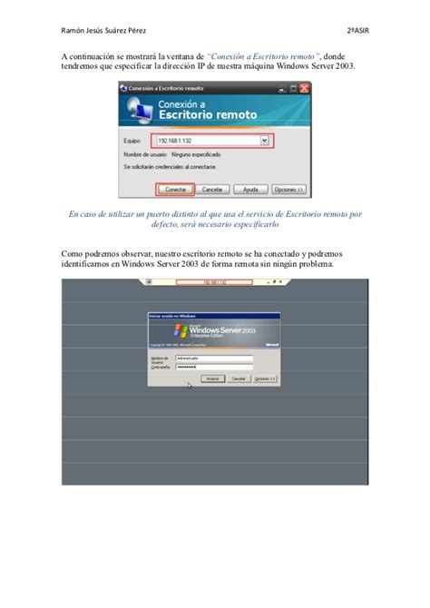 escritorio remoto escritorio remoto con soporte web windows server 2003