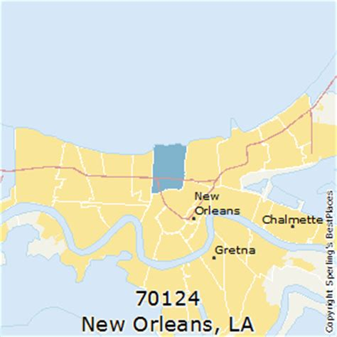 new orleans zip code map best places to live in new orleans zip 70124 louisiana