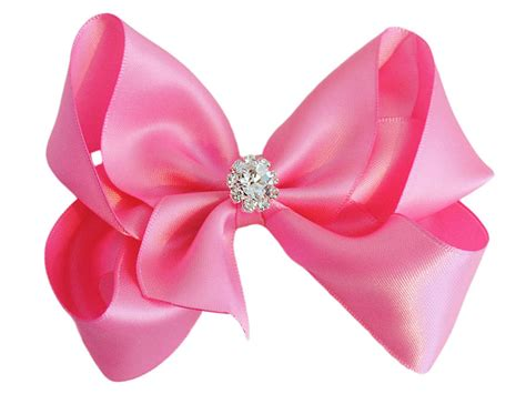 satin bow with sparkly crystal centre by candy bows
