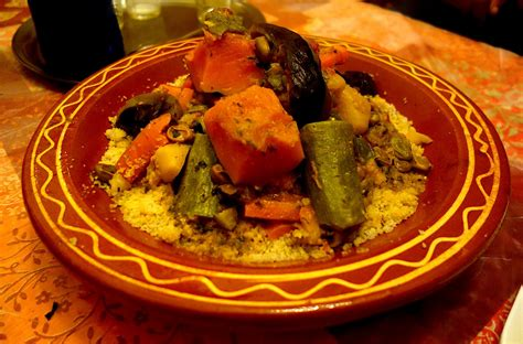 Authentic Moroccan couscous with beef and vegetables ...