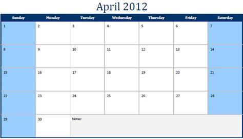 April 2012 Calendar Printable Pdf April 2012 Calendar April 2012 Calendar Pdf