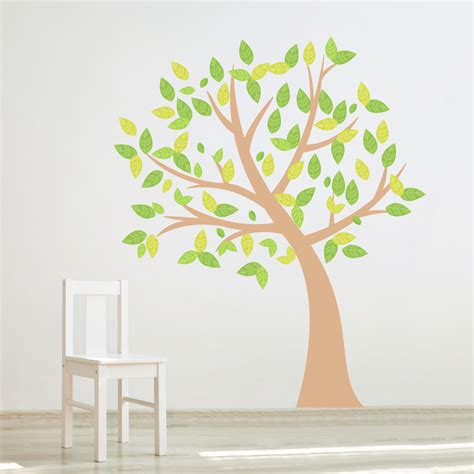 wall stickers trees four season tree printed wall decal