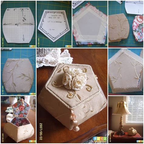 diy decorations cardboard diy beautiful pentagon cardboard storage box