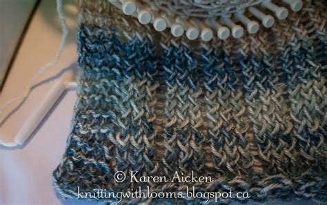 how do knitting looms work knitting with looms lightweight cowl a work in progress
