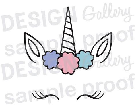 printable unicorn face unicorn face jpg png svg dxf cut file printable