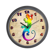 Rainbow Gecko Wall Clock by stargazerdesign