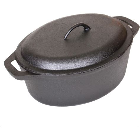 best cast iron pot cajun cookware 7 quart seasoned cast iron oval casserole