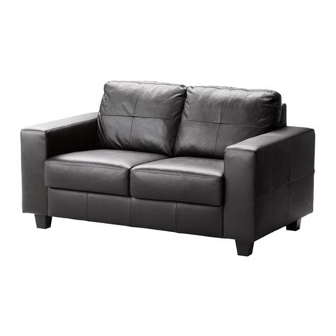Ikea Leather Loveseat | skogaby loveseat glose bomstad black ikea