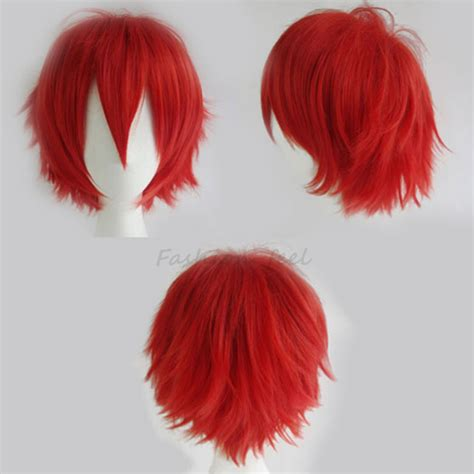 evan wigshop wigs female wigs mens wigs wigs anime red hair wig wig ponytail
