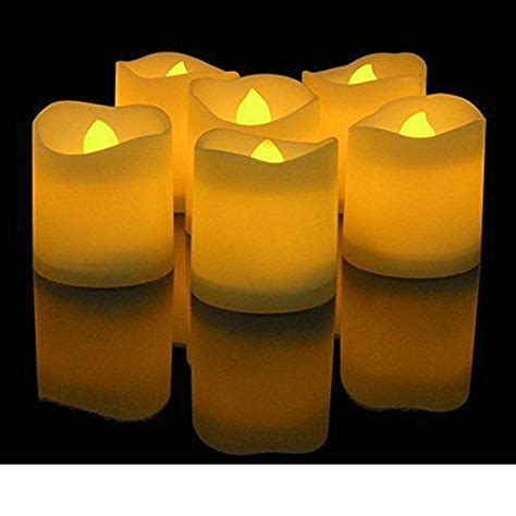 24 48 Pack Flameless Votive Candles Battery Operated Novelty Place Lasting Battery Operated Flickering Flameless Led Votive Candles Pack