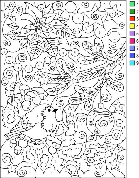 winter coloring pages free large images nicole s free coloring pages color by number winter