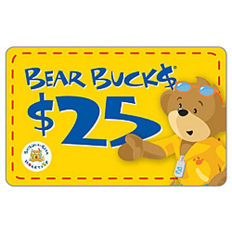 Build A Bear Gift Card - build a bear bucks gift card findgift com