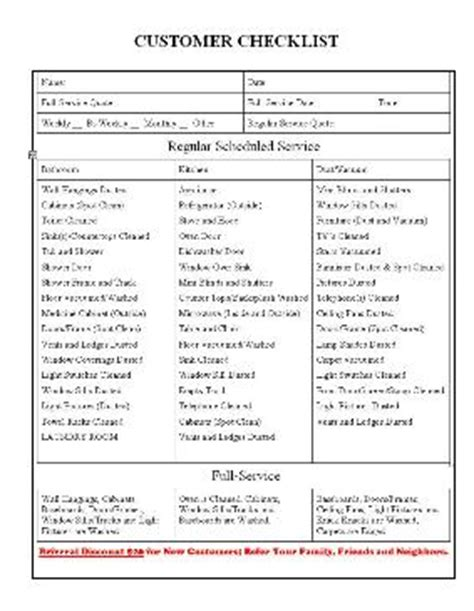 maid service: maid service cleaning checklist